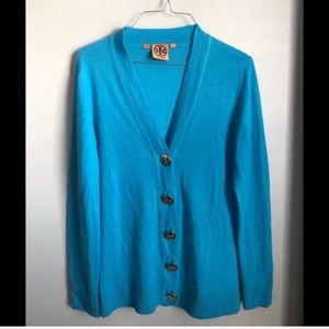 Tory Burch Cardigan With Gold Logo Buttons
